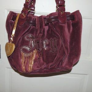 Juicy Couture velour purse / bag.